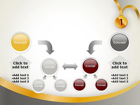 Gold Medal PowerPoint Template Slide 19