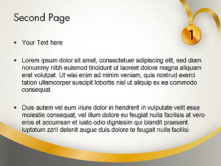Gold Medal PowerPoint Template Slide 2
