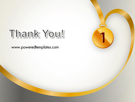 Gold Medal PowerPoint Template Slide 20