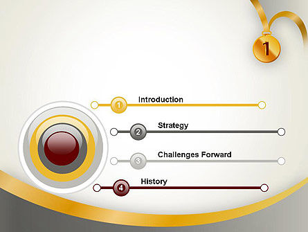 Gold Medal PowerPoint Template, Slide 3, 12214, Business Concepts — PoweredTemplate.com