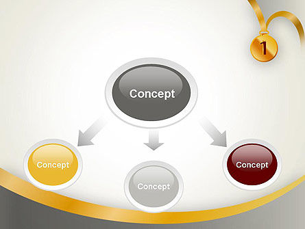 Gold Medal PowerPoint Template, Slide 4, 12214, Business Concepts — PoweredTemplate.com