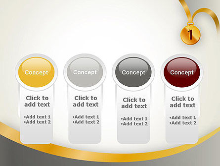 Gold Medal PowerPoint Template Slide 5