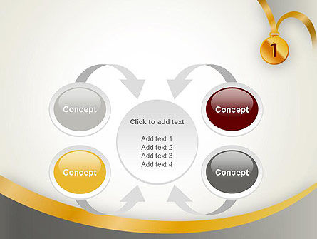 Gold Medal PowerPoint Template Slide 6