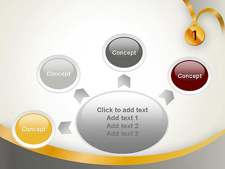 Gold Medal PowerPoint Template Slide 7