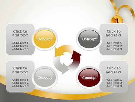 Gold Medal PowerPoint Template Slide 9