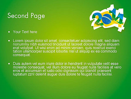 2014 Brazil World Cup PowerPoint Template Slide 2