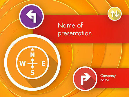 Business Concepts: Templat PowerPoint Pilihan Arah #12217