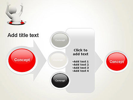 Drowning Man with Lifebuoy PowerPoint Template Slide 17