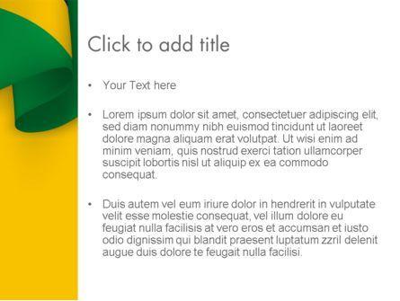 Piece of Cloth Folds PowerPoint Template, Slide 3, 12223, Abstract/Textures — PoweredTemplate.com