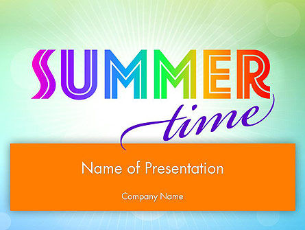 Summer Disco Theme Powerpoint Template Backgrounds