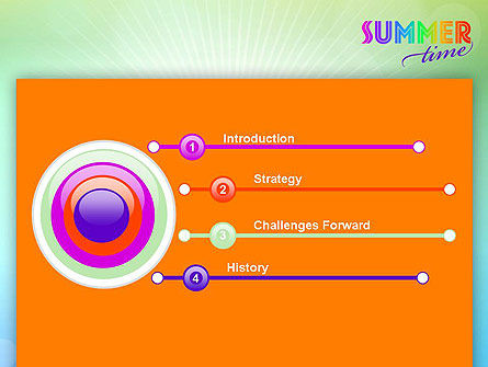 Summer Disco Theme PowerPoint Template Slide 3