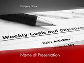 Education & Training: Plantilla de PowerPoint - metas y objetivos #12227