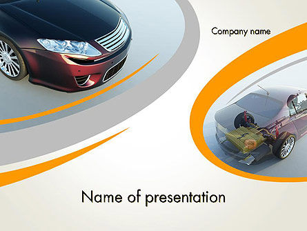 Cars and Transportation: Tesla Car PowerPoint Template #12228