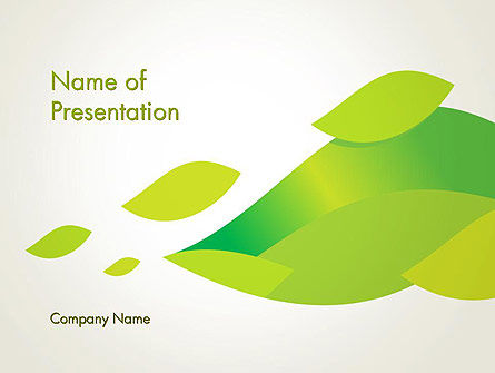 Bright Green Leafs PowerPoint Template