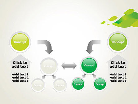 Bright Green Leafs PowerPoint Template Slide 19