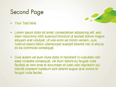 Bright Green Leafs PowerPoint Template Slide 2