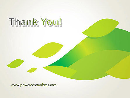 Bright Green Leafs PowerPoint Template Slide 20