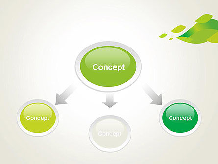 Bright Green Leafs PowerPoint Template Slide 4
