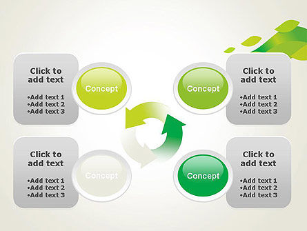 Bright Green Leafs PowerPoint Template Slide 9