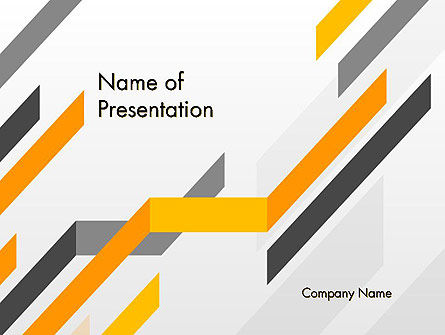 Business: Tilted Strips PowerPoint Template #12232