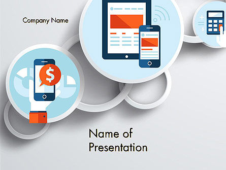 Mobile Application PowerPoint Template, 12233, Technology and Science — PoweredTemplate.com