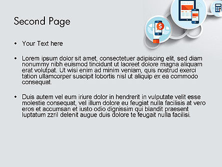 Mobile Application PowerPoint Template, Slide 2, 12233, Technology and Science — PoweredTemplate.com