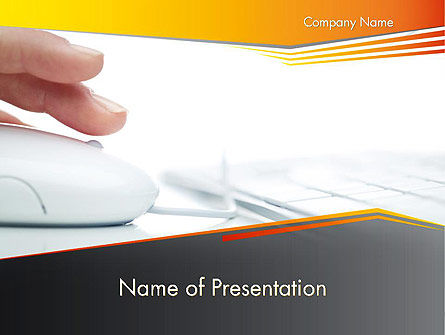 Working with Computer PowerPoint Template, 12235, Education & Training — PoweredTemplate.com