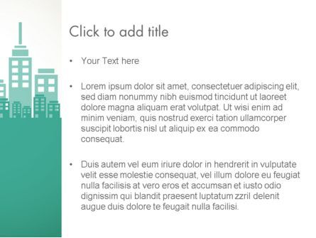 City Silhouette PowerPoint Template, Slide 3, 12236, Construction — PoweredTemplate.com