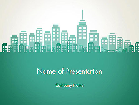 City Silhouette PowerPoint Template