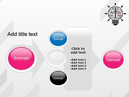 Creative Brain PowerPoint Template Slide 17