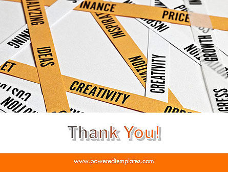 Paper Strips with Project Related Words PowerPoint Template Slide 20
