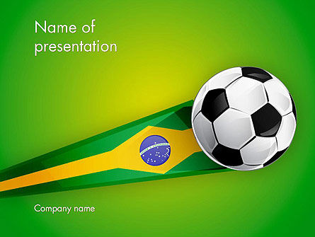 Brazilian Football Powerpoint Template Backgrounds 12240
