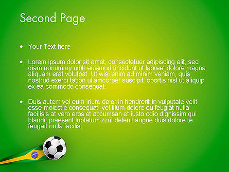 Brazilian Football PowerPoint Template Slide 2