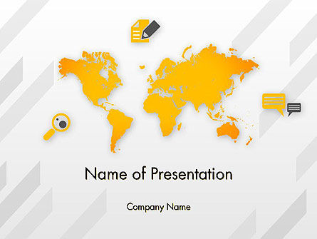 Global: Orange World PowerPoint Template #12241