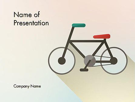 Bicycle Flat Icon PowerPoint Template, 12243, Sports — PoweredTemplate.com