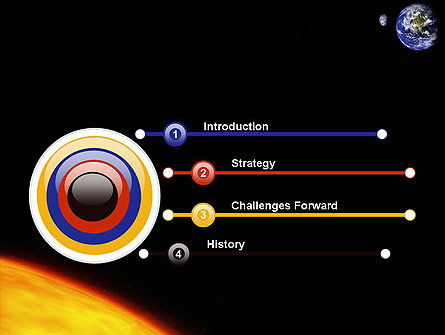 Earth and Sun PowerPoint Template, Slide 3, 12245, Technology and Science — PoweredTemplate.com