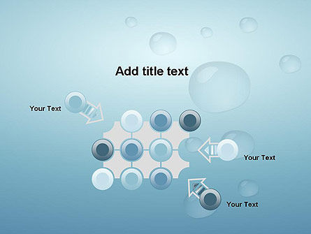 Water Drops on Blue Surface PowerPoint Template Slide 10