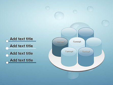 Water Drops on Blue Surface PowerPoint Template Slide 12