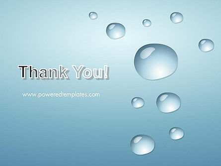 Water Drops on Blue Surface PowerPoint Template Slide 20