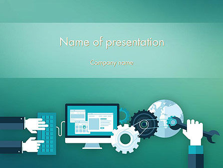 Tuning a System PowerPoint Template, 12250, Technology and Science — PoweredTemplate.com