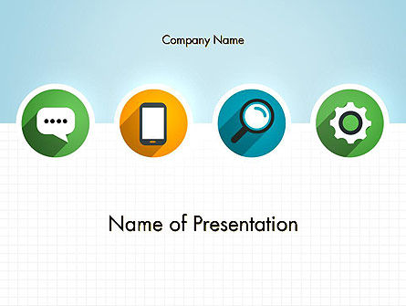 Business Concepts: Presentatie In Vlakke Vormgeving PowerPoint Template #12251