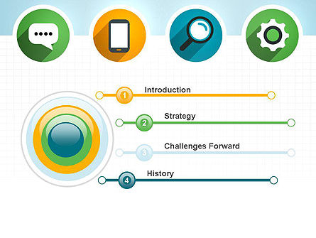 Presentation in Flat Design PowerPoint Template, Slide 3, 12251, Business Concepts — PoweredTemplate.com
