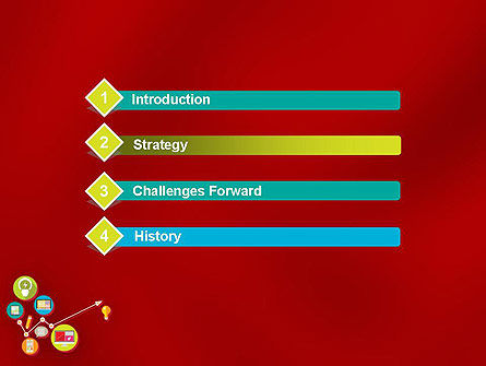 Colorful Media Application Icons PowerPoint Template Slide 3
