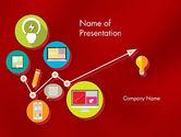 Technology and Science: Modèle PowerPoint de icônes d'applications multimédias colorées #12252