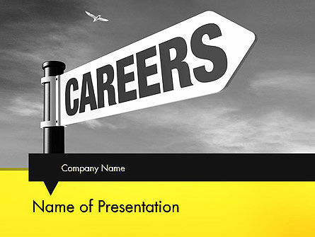 Careers Sign PowerPoint Template, 12253, Careers/Industry — PoweredTemplate.com