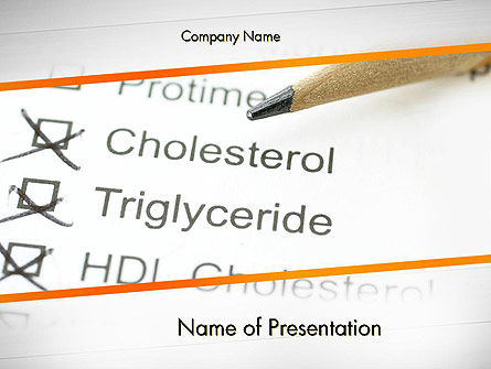 High Cholesterol PowerPoint Template, 12255, Medical — PoweredTemplate.com