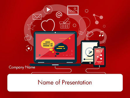 Website Design Elements PowerPoint Template