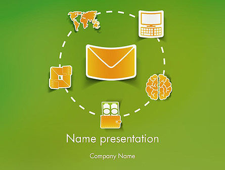 Careers/Industry: Communication Concept PowerPoint template #12257