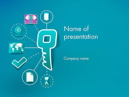 One Key Solutions PowerPoint Template, 12258, Business — PoweredTemplate.com