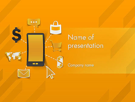 Mobile Solutions PowerPoint Template, 12259, Technology and Science — PoweredTemplate.com